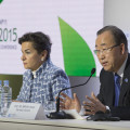 Christina Figueres and Ban Ki-moon