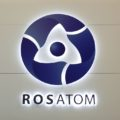 The logo of Russian state nuclear monopoly Rosatom is pictured at the World Nuclear Exhibition 2014, the trade fair event for the global nuclear energy sector, in Le Bourget, near Paris October 14, 2014. REUTERS/Benoit Tessier (FRANCE - Tags: ENERGY BUSINESS LOGO) - RTR4A552